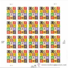 Sellos: USA 2007 CELEBRATE PANE OF 20 STAMPS SC 4196SP, MI B4300, SG MS4781, YV BF3982. Lote 37821841