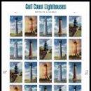 Sellos: USA 2009 GULF COAST LIGHTHOUSES PANE OF 20 SC 4409-13SP, MI MS4508-12, SG MS4964-68, YV BF4171-75 . Lote 37842254