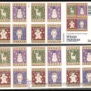 Sellos: USA 2009 WINTER HOLIDAYS BOOKLET OF 20 SC 4425-28B, MI C4565-68, SG C5002-05, YV C4227-30. Lote 37842442