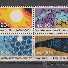 Sellos: ESTADOS UNIDOS 1435/38** - AÑO 1982 - EXPOSICION MUNDIAL DE LA ENERGÍA. Lote 38466421