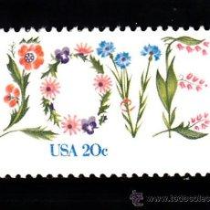 Sellos: ESTADOS UNIDOS 1378** - AÑO 1982 - DÍA DE SAN VALENTÍN. Lote 38529161