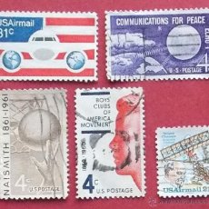 Sellos: 5 SELLOS USADOS ESTADOS UNIDOS - 1960 1961.... Lote 40197890