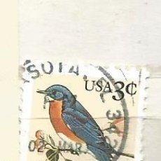 Timbres: ESTADOS UNIDOS 1996. AVES. PÁJARO ORIENTAL AZUL. Lote 41034249