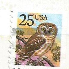 Francobolli: ESTADOS UNIDOS 1988. AVES. BUHO. Lote 41034271