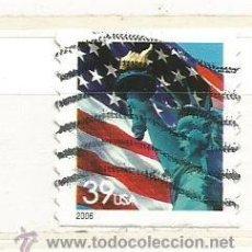 Timbres: ESTADOS UNIDOS 2006. BANDERA ESTADOS UNIDOS Y ESTATUA LIBERTAD (NO DENTADO ARRIBA Y ABAJO). Lote 41039806