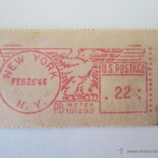 Sellos: ESTADOS UNIDOS * FRANQUEO NEW YORK * 1946. Lote 42749103