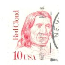 Sellos: 2-USA1771. SELLO USADO EE.UU. RED CLOUD. Lote 43177511