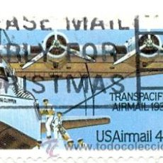 Sellos: 2-USA109AE. SELLO USADO EE.UU. YVERT Nº 109 AÉREO. AVIÓN TRANSPACIFIC AIRMAIL. Lote 43397939