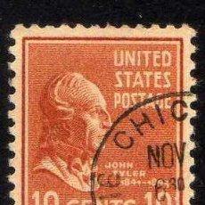 Sellos: ESTADOS UNIDOS: 1938 PRESIDENTES: TYLER - YVERT N.380 USADO. Lote 44194615