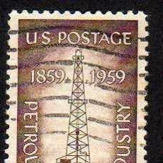 Stamps - ESTADOS UNIDOS: 1959 CENT.INDUSTRIA PETROLEO N.673 USADO - 44533821