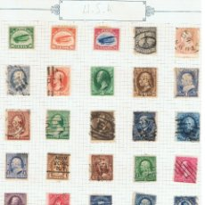 Sellos: LOTE DE 67 SELLOS ANTIGUOS, 1870-1922, NUEVOS Y CIRCULADOS DE ESTADOS UNIDOS DE AMÉRICA.. Lote 45816743