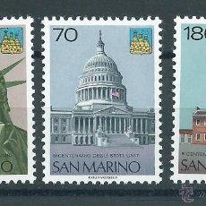 Sellos: R2/ EEUU - SAN MARINO. Lote 47033726