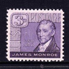 Sellos: ESTADOS UNIDOS 641** - AÑO 1958 - BICENTENARIO DEL NACIMIENTO DE JAMES MONROE. Lote 125480842