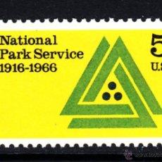 Sellos: ESTADOS UNIDOS 807** - AÑO 1966 - 50º ANIVERSARIO DEL SERVICIO DE PARQUES NACIONALES. Lote 47180995