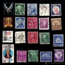 Briefmarken - lote 20 sellos usados, diferentes, estados unidos. - 13578274