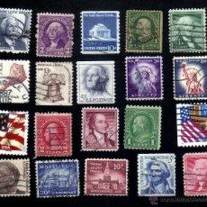 Briefmarken - lote 20 sellos usados, diferentes, estados unidos. - 13578286