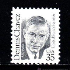 Sellos: ESTADOS UNIDOS 1933** - AÑO 1991 - AMERICANOS CÉLEBRES - DENNIS CHAVEZ. Lote 211838482