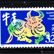 Sellos: ESTADOS UNIDOS 2577** - AÑO 1997 - NUEVO AÑO CHINO - AÑO DEL BUFALO. Lote 47645779