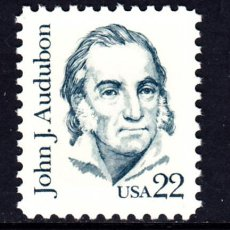 Sellos: ESTADOS UNIDOS 1565** - AÑO 1985 - AMERICANOS CELEBRES - J. J. AUDUBON - ORNITOLOGO. Lote 211838527