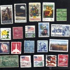Briefmarken - lote 20 sellos usados, diferentes, estados unidos. - 9863688