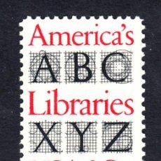 Sellos: ESTADOS UNIDOS 1445** - AÑO 1982 - BIBLIOTECAS AMERICANAS. Lote 195244571