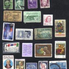 Briefmarken - lote 20 sellos usados, diferentes, estados unidos. - 9838021