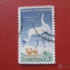 Stamps - estados unidos, 1956, conservaciones de la fauna, grullas de texas, yvert 612B - 47985371