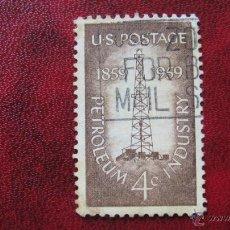Stamps - estados unidos, 1959, centenario industria petrolera,yvert 673 - 47986699