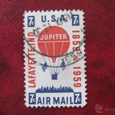 Selos: ESTADOS UNIDOS, 1959, CENTENARIO ASCESION GLOBO JUPITER, CORREO AEREO,YVERT 53. Lote 48350361