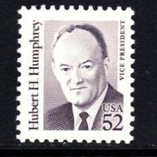 Sellos: ESTADOS UNIDOS 1945** - AÑO 1991 - AMERICANOS CÉLEBRES - HUBERT H. HUMPHREY. Lote 211838542