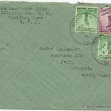Sellos: 1941 - CARTA VOLADA DE IOWA A COLOMBIA - UNITED STATES. Lote 49942564