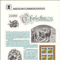 Sellos: USA 1986 COMMEMORATIVE PANEL 273. Lote 8344861