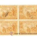 Sellos: BLOQUE 4. UNITED STATES POSTAGE, CALIFORNIA. CENTENNIAL OF STATEHOOD. NUEVOS. CHARNELA.. Lote 53733006