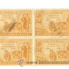 Sellos: BLOQUE 4. UNITED STATES POSTAGE, CALIFORNIA. CENTENNIAL OF STATEHOOD. NUEVOS. CHARNELA.. Lote 53733006