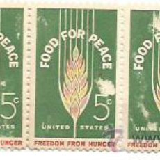 Sellos: BLOQUE 5. UNITED STATES. FOOD FOR PEACE. FREEDOM FROM HUNGER. NUEVOS.. Lote 53733528
