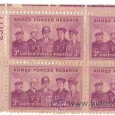 Sellos: BLOQUE 4. UNITED STATES POSTAGE, ARMED FORCES RESERVE. NUEVOS. . Lote 53733638