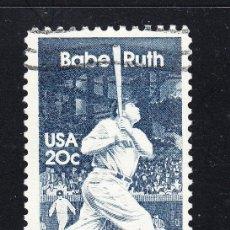 Sellos: ESTADOS UNIDOS 1485 - AÑO 1983 - BABE RUTH - BEISBOL. Lote 254645045