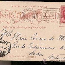 Sellos: ESTADOS UNIDOS & BILHETE POSTAL, FORT POINT AND GOLDEN GATE, SAN FRANCISCO, LISBOA PORTUGAL 1902 (4). Lote 54212083