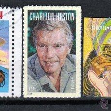 Sellos: ESTADOS UNIDOS (16-159) JOHN WAYNE - CHARLTON HESTON - JIMI HENDRIX **/* . MNH/MH. Lote 54381993
