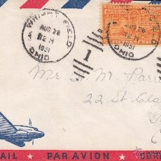 Sellos: SOBRE: 1951 USA. VIA AIRMAIL - OHIO - TORONTO. Lote 54948912
