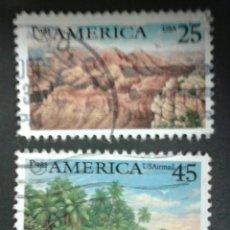 Sellos: SELLOS DE ESTADOS UNIDOS. YVERT 1923 + A 120. AMERICA UPAE. SERIE COMPLETA USADA. Lote 55089477