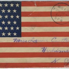 Sellos: GUERRA DE CUBA - WAR SPAIN UNITED STATES PATRIOTIC COVER FROM THE SPANISH.AMERICAN WAR 1898. Lote 56468770