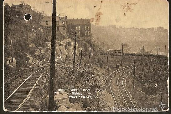 Sellos: Estados Unidos & Horse Shoe Curve, Hillside, West Hoboken, Brooklyn, Via Londres, Lisboa 1908 (11) - Foto 2 - 56935561