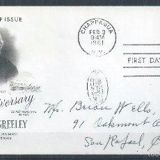 Sellos: R9/ ESTADOS UNIDOS DE AMERICA 1961 PRIMER DIA CUBIERTA FDE, DIRIGIDA EE.UU.. Lote 57471045
