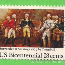 Sellos - ESTADOS UNIDOS - MICHEL 1314 - YVERT 1174 - SURRENDER AT SARATOGA 1777 BY TRUMBULL. (1977). - 60606003