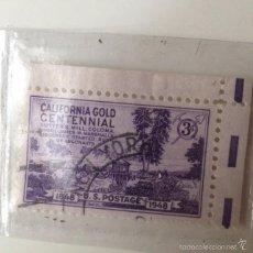 Sellos: SELLO CIRCULADO ESTADOS UNIDOS 1948 CENTENARIO DE CALIFORNIA. Lote 60634467