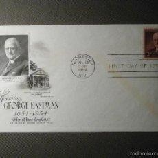 Sellos: SOBRE PRIMER DIA CIRCULACIÓN - GEORGE EASTMAN - NEW YORK - 12 DE JULIO DE 1954 - FIRTS DAY -. Lote 61111275
