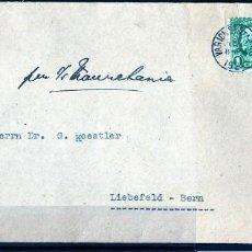 Sellos: ESTADOS UNIDOS, CARTA REGISTRADA A BERNA, SUIZA 1924 SELLOS DEL PRESIDENTE GEORGE WASHINGTON. Lote 64783575