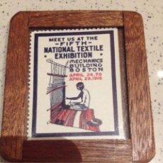 Sellos: SELLO SIN CIRCULAR EXIBICION TEXTIL NACIONAL BOSTON AÑO 1916. Lote 71204357