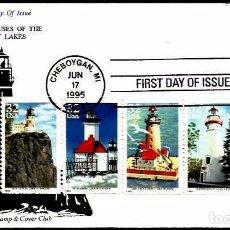 Selos: USA 1995 SPD FAROS. Lote 71970293